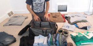 旅行荷物をきれいにパッキングする方法