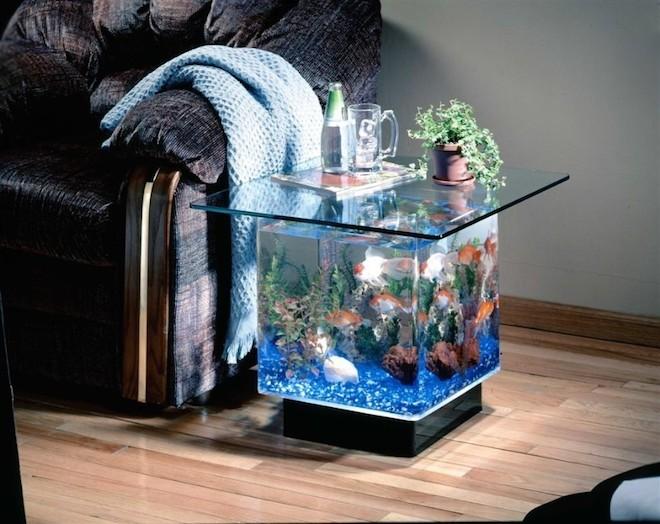世界のオシャレな水槽を持つ家7
