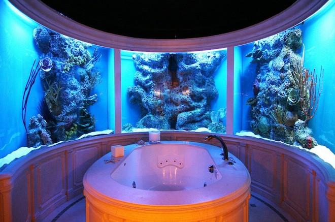 世界のオシャレな水槽を持つ家24
