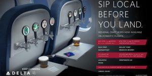 デルタ航空の機内ドリンクで、クラフトビールが味わえる