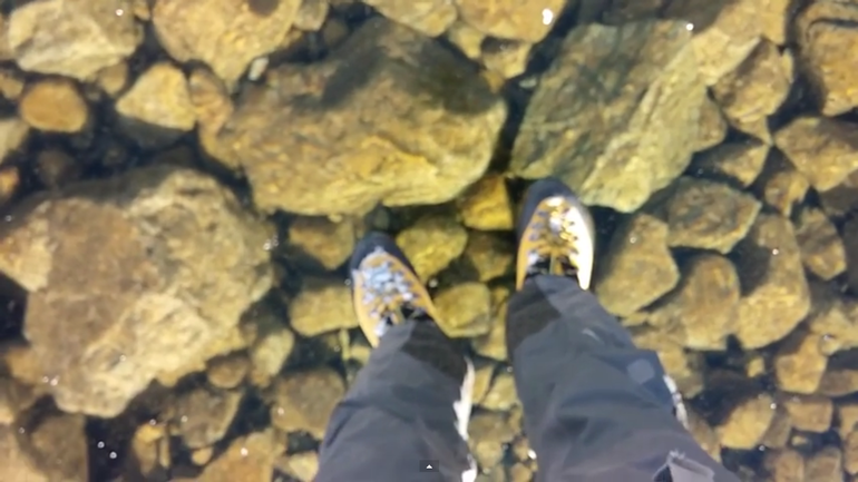 Walking on beautiful clean ice in Slovakian Mountains2