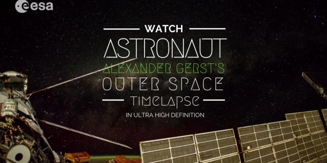 国際宇宙ステーションから届いた素敵な映像