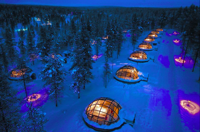 The Kakslauttanen Arctic Resort(サーリセルカ・フィンランド)