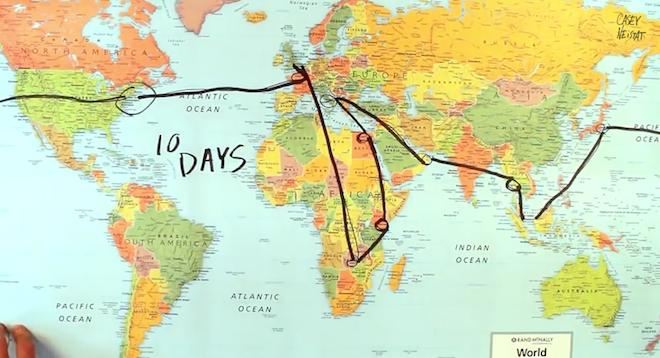 10日間の軌跡