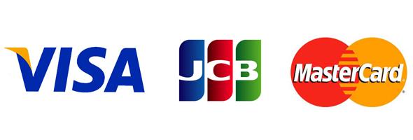 JCB、VISA、MasterCard
