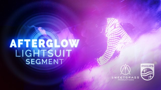 光るウェアで雪山を滑走する幻想的なスキー映像Afterglow: Lightsuit Segment2
