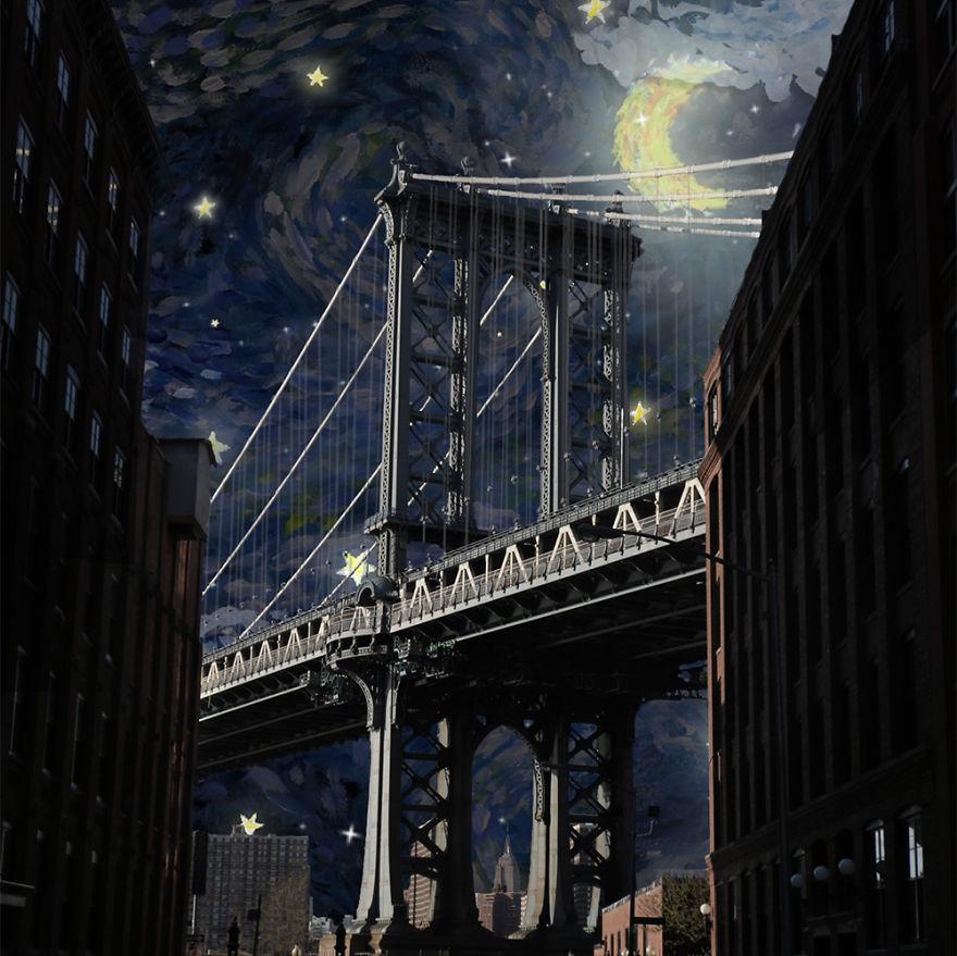 ニューヨークの街に遊び心あるイラストを付け加えた写真シリーズ - AnimateNY