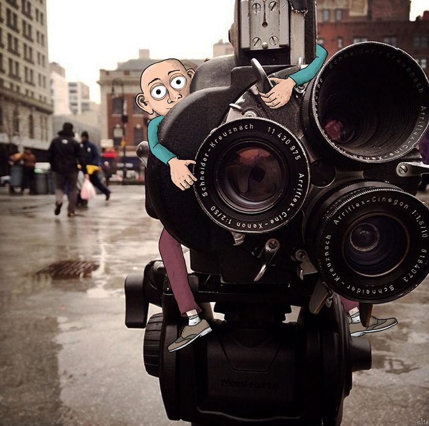 ニューヨークの街に遊び心あるイラストを付け加えた写真シリーズ - AnimateNY6