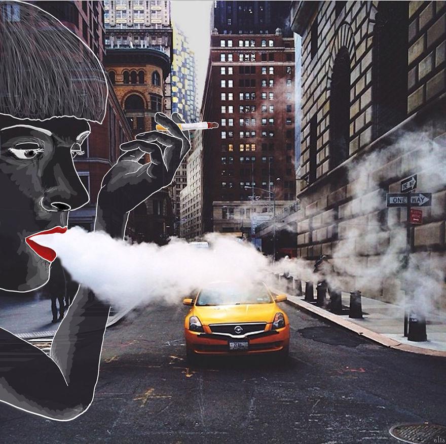 ニューヨークの街に遊び心あるイラストを付け加えた写真シリーズ - AnimateNY12