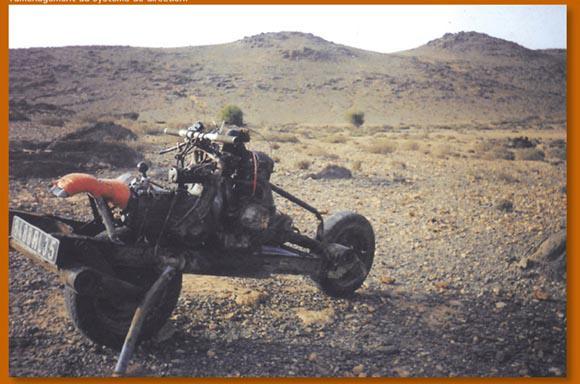 車を分解しバイクにすること