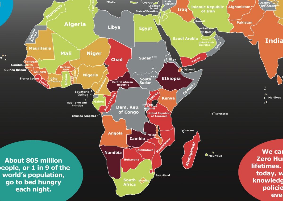 アフリカの飢餓状況