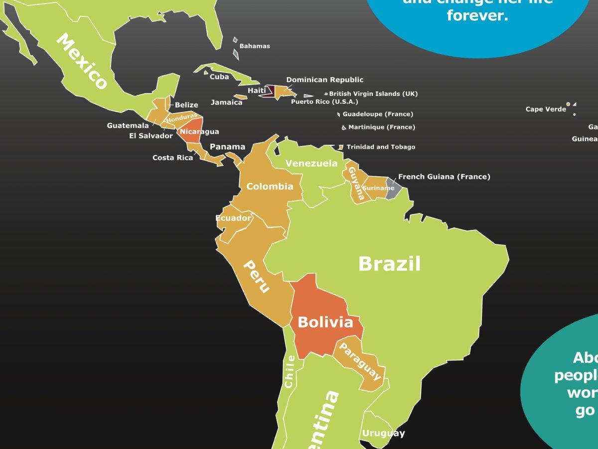 中南米の飢餓状況