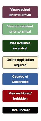 ビザの必要な国が一目で分かる世界地図「VisaMapper」-02