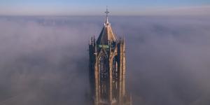 ユトレヒト大聖堂教会ドム塔から撮影された神々しい景色【動画】