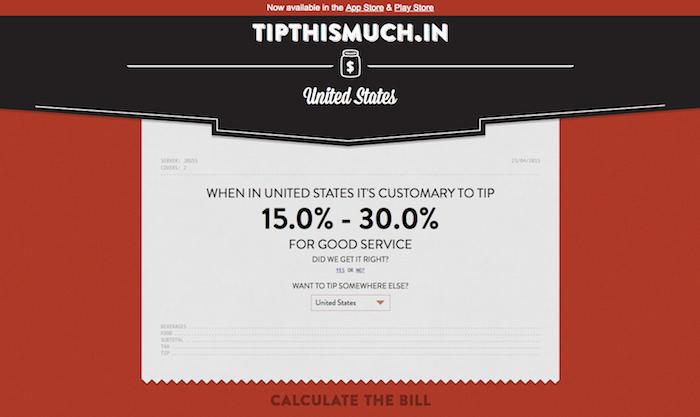 チップをいくら払えばいいか?が各国ごとに分かるサイト「Tip This Much」-02