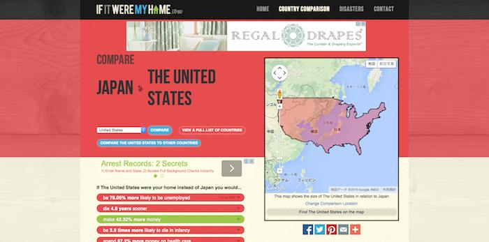 国土や就職率、社会保険を比較できるサイト「If It Were My Home」