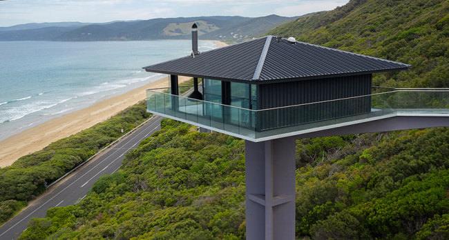 オーシャンビューが目の前に!オーストラリアにある空と海の境界に建てられたモダンハウス「THE POLE HOUSE」-13
