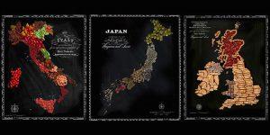 その国を象徴する食べ物で作られた地図『FOOD MAPS』